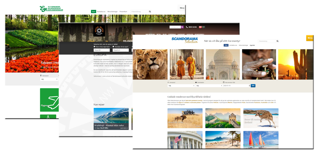 Features tailored for the travel industry